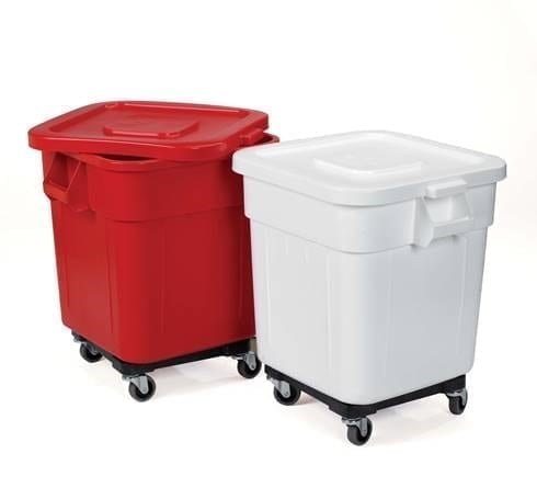 Huskee Bin With Lid & Wheels RED