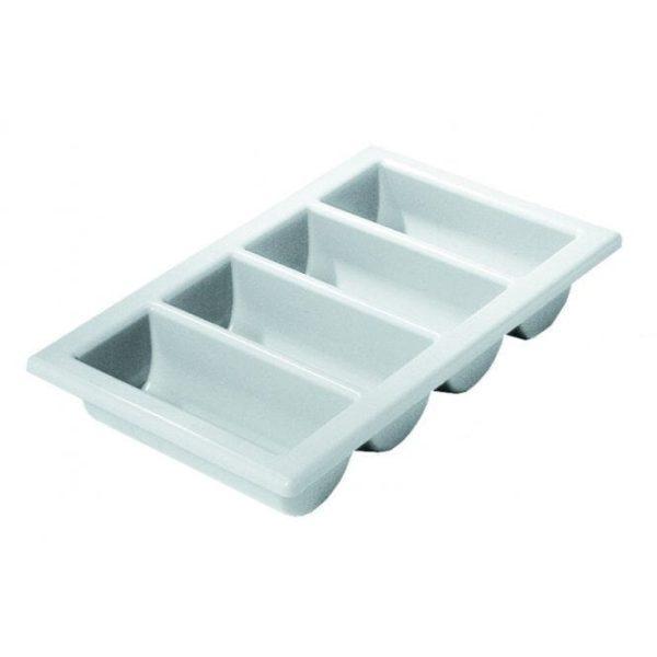 Genware Cutlery Tray/Box GREY 1/1 13''x21''