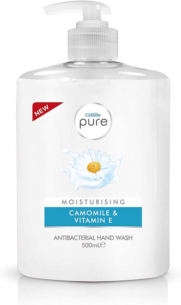 Cussons Pure Antibac Handwash Moisturising (Pump) 500ML X 6