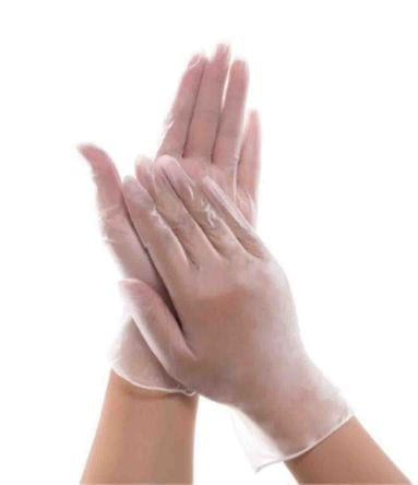 Clear Vinyl Gloves Extra Large X 100